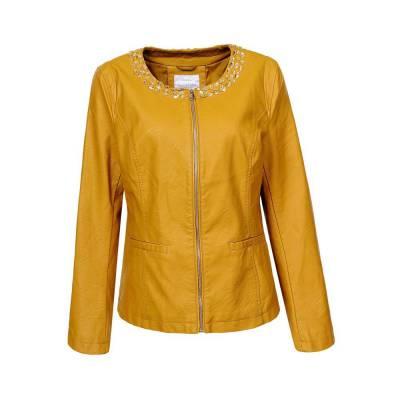 Bikerjacke für Damen in Gelb