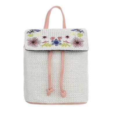 Rucksack für Damen in Rosa und Weiß