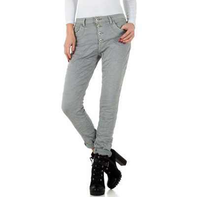 Boyfriend Jeans für Damen in Grau