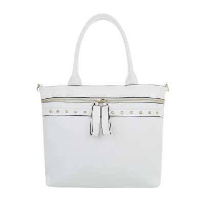 Mittelgroße Damen Tasche Weiß