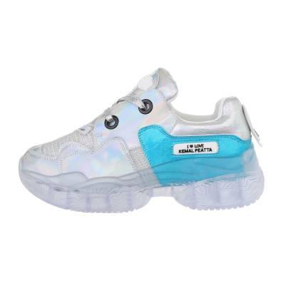 Sneakers low für Damen in Silber und Blau