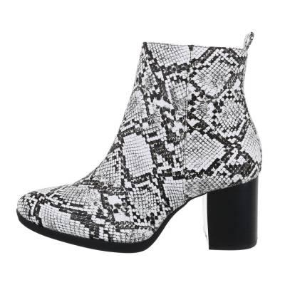 Klassische Stiefeletten für Damen in Grau und Schwarz