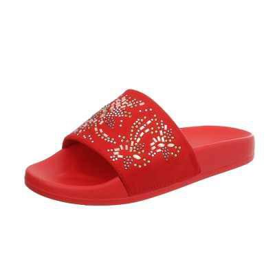 Pantoletten für Damen in Rot