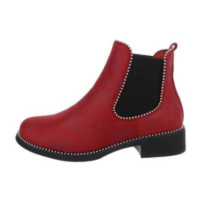 Chelsea Boots für Damen in Rot