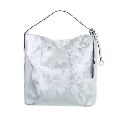 Mittelgroße Damen Tasche Blau Silber
