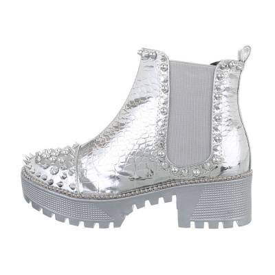 Chelsea Boots für Damen in Silber