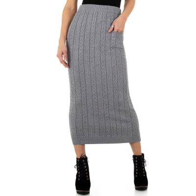 Stretchrock für Damen in Grau