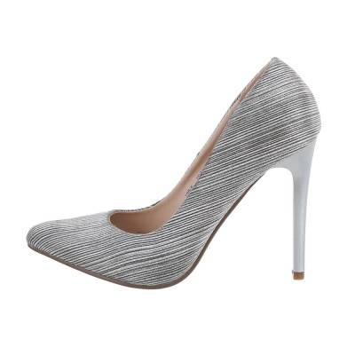 High Heel Pumps für Damen in Beige und Silber