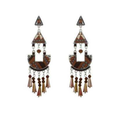 Ohrringe für Damen in Braun