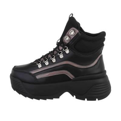 Sneakers high für Damen in Schwarz und Braun