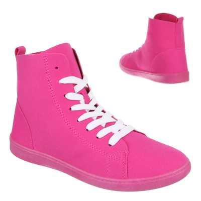 Sneakers high für Damen in Pink