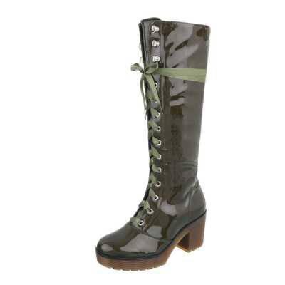 High Heel Stiefel für Damen in Grün