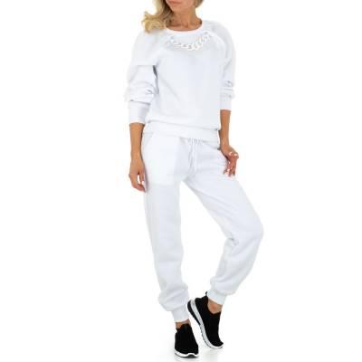 Jogging- & Freizeitanzug für Damen in Weiß