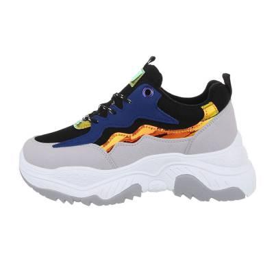 Sneakers low für Damen in Grau und Blau
