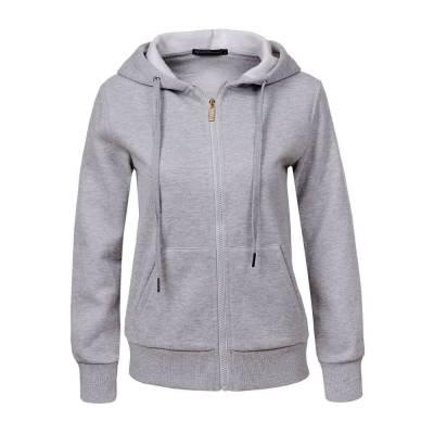 Sweatjacke für Damen in Grau