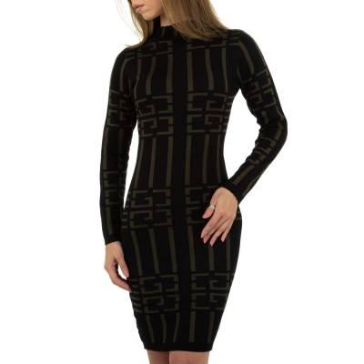 Strickkleid für Damen in Schwarz