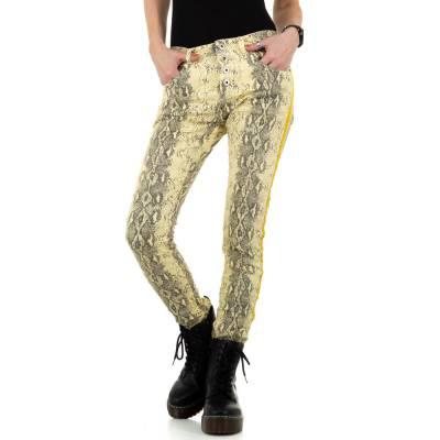 Boyfriend Jeans für Damen in Gelb