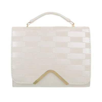Handtasche für Damen in Beige und Gold