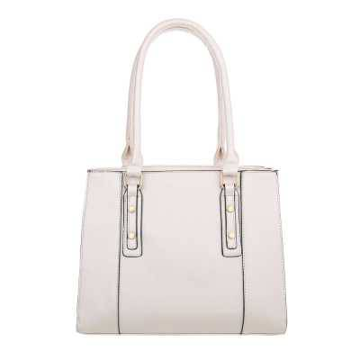 Mittelgroße Damen Tasche Weiß Silber