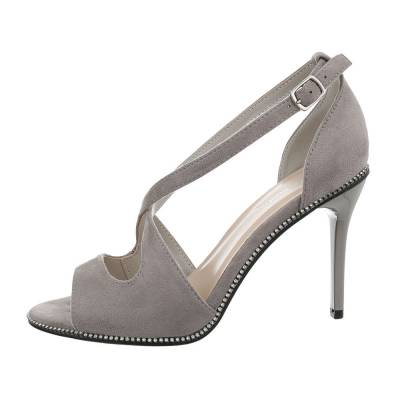 High Heel Sandaletten für Damen in Grau