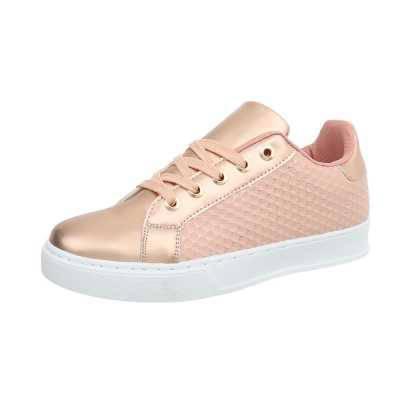 Sneakers low für Damen in Rosa und Gold