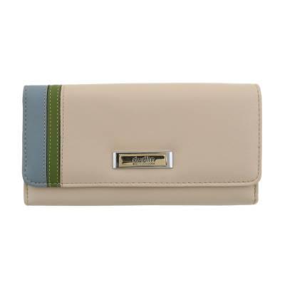 Portemonnaie Damen Geldbörse Beige