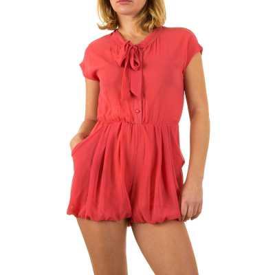 Kurzer Jumpsuit für Damen in Rot