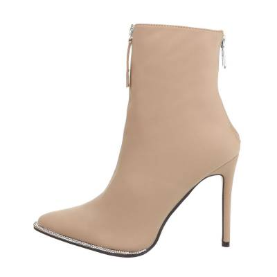 High Heel Stiefeletten für Damen in Beige