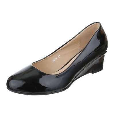 Keilpumps für Damen in Schwarz
