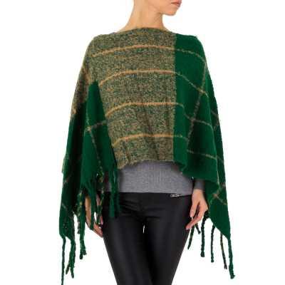 Poncho/Cape für Damen in Grün