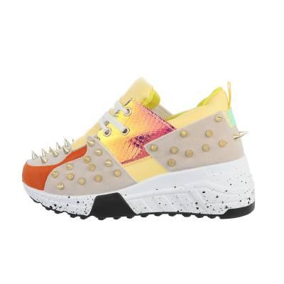 Sneakers low für Damen in Gelb und Beige