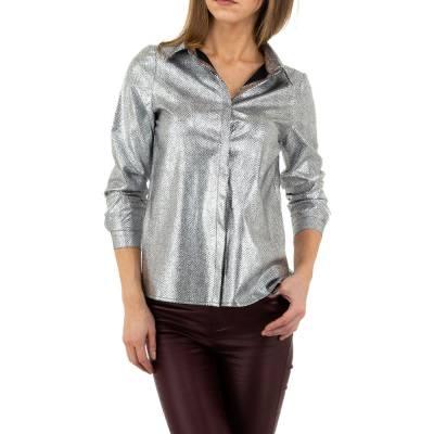 Hemdbluse für Damen in Grau