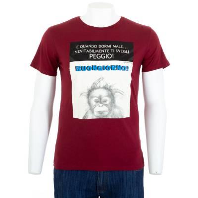 T-Shirt für Herren in Weinrot