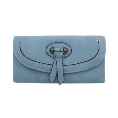 Portemonnaie Damen Geldbörse Hellblau