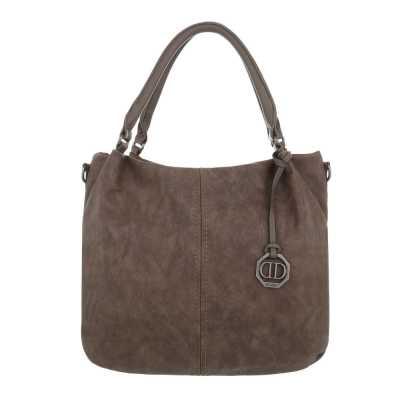 Mittelgroße Damen Tasche Braun Grau