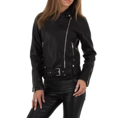 Bikerjacke für Damen in Schwarz