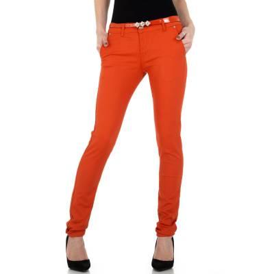 Chinos für Damen in Orange