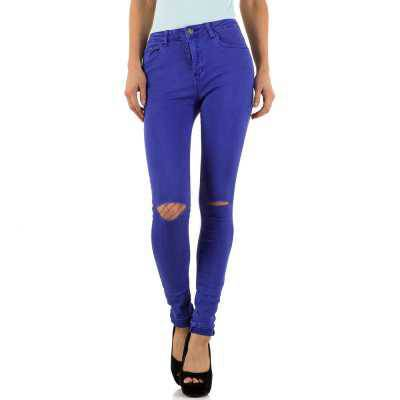 High Waist Jeans für Damen in Lila