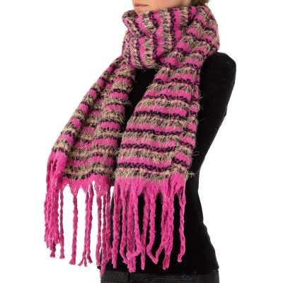 Großer Wollmix Xxl Schal Pink