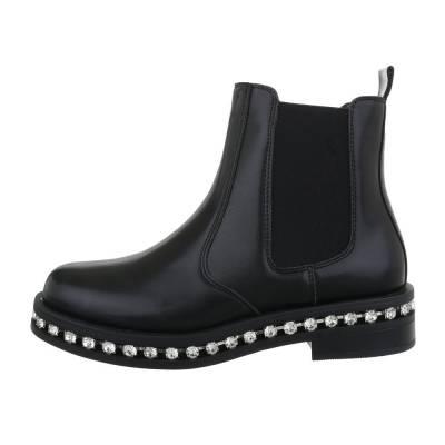 Chelsea Boots für Damen in Schwarz und Silber