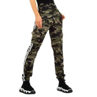 Boyfriend-Hose für Damen in Grün und Camouflage
