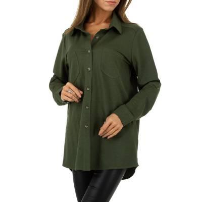 Hemdbluse für Damen in Grün