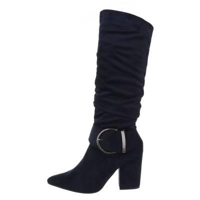 High Heel Stiefel für Damen in Blau