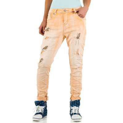 Boyfriend Jeans für Damen in Orange