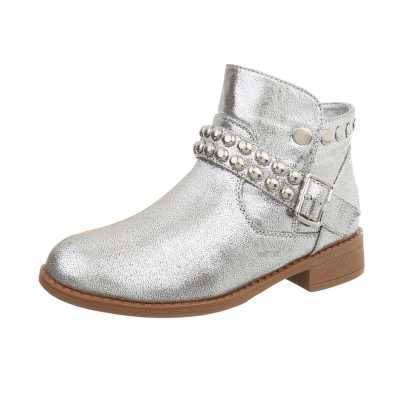 Klassische Stiefeletten für Damen in Silber