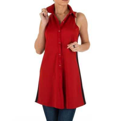 Hemdbluse für Damen in Rot