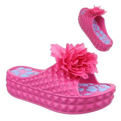 Plateausandaletten für Damen in Pink
