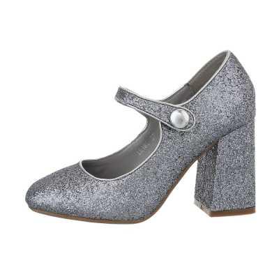 High Heel Pumps für Damen in Silber und Grau