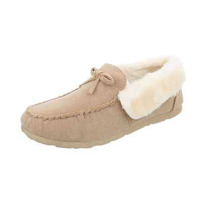 Mokassins für Damen in Beige