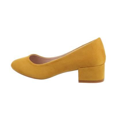 Klassische Pumps für Damen in Gelb